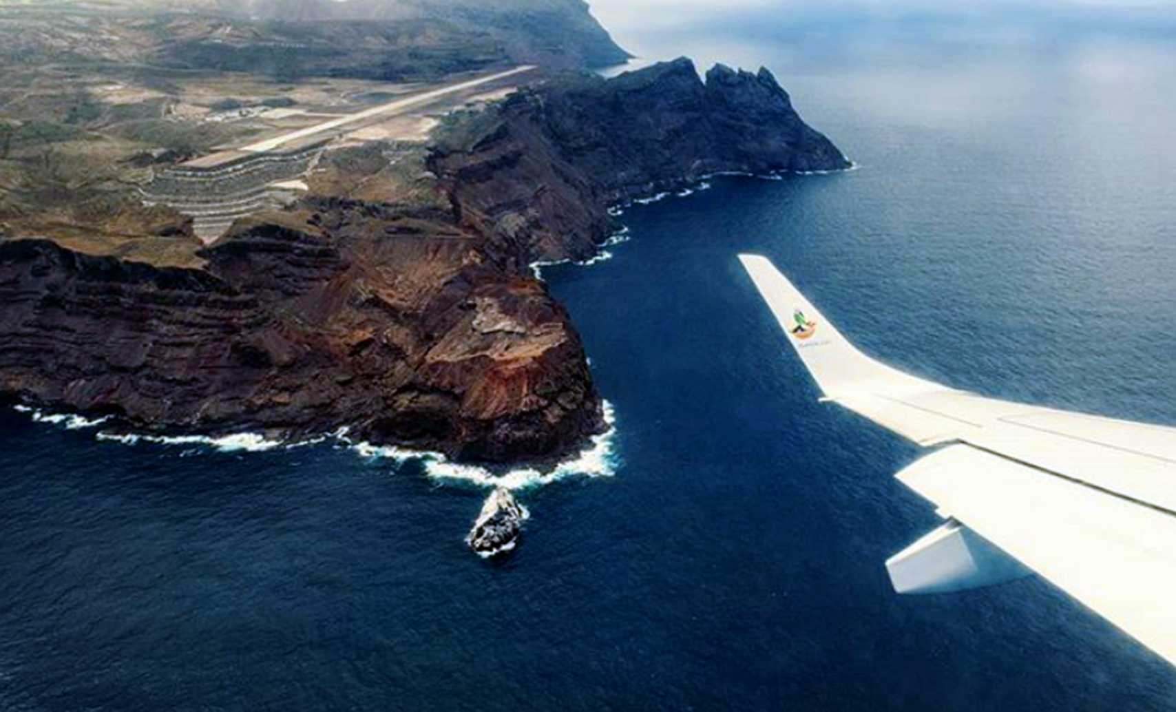Airport from the air Saint Helena Island Info Fly here