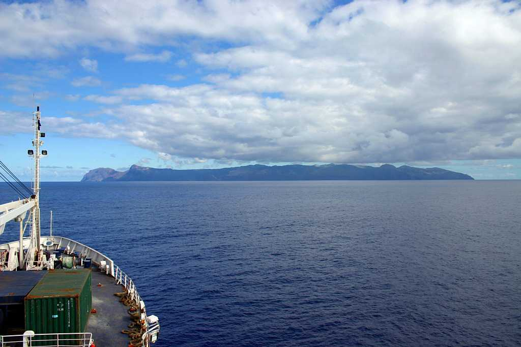 Approaching St Helena on the southbound RMS Saint Helena Island Info Could you live here?
