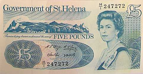 £5 [Saint Helena Island Info:Notes and Coins of St Helena]