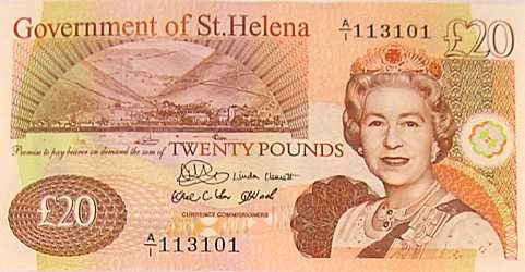 £20 [Saint Helena Island Info:Notes and Coins of St Helena]