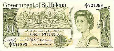 Old £1 [Saint Helena Island Info:Notes and Coins of St Helena]