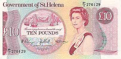 Old £10 [Saint Helena Island Info:Notes and Coins of St Helena]