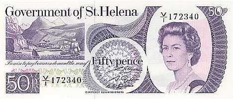 Old 50p [Saint Helena Island Info:Notes and Coins of St Helena]