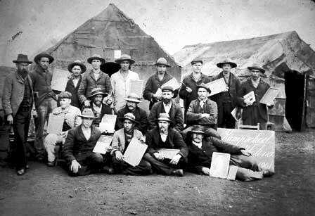 Boer Prisoners in their camp Saint Helena Island Info