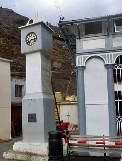 Bridge Memorial Clock, February 2016 [Saint Helena Island Info:Bridge Memorial Clock]