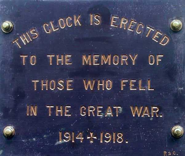 Bridge Memorial Clock plaque [Saint Helena Island Info:Bridge Memorial Clock]