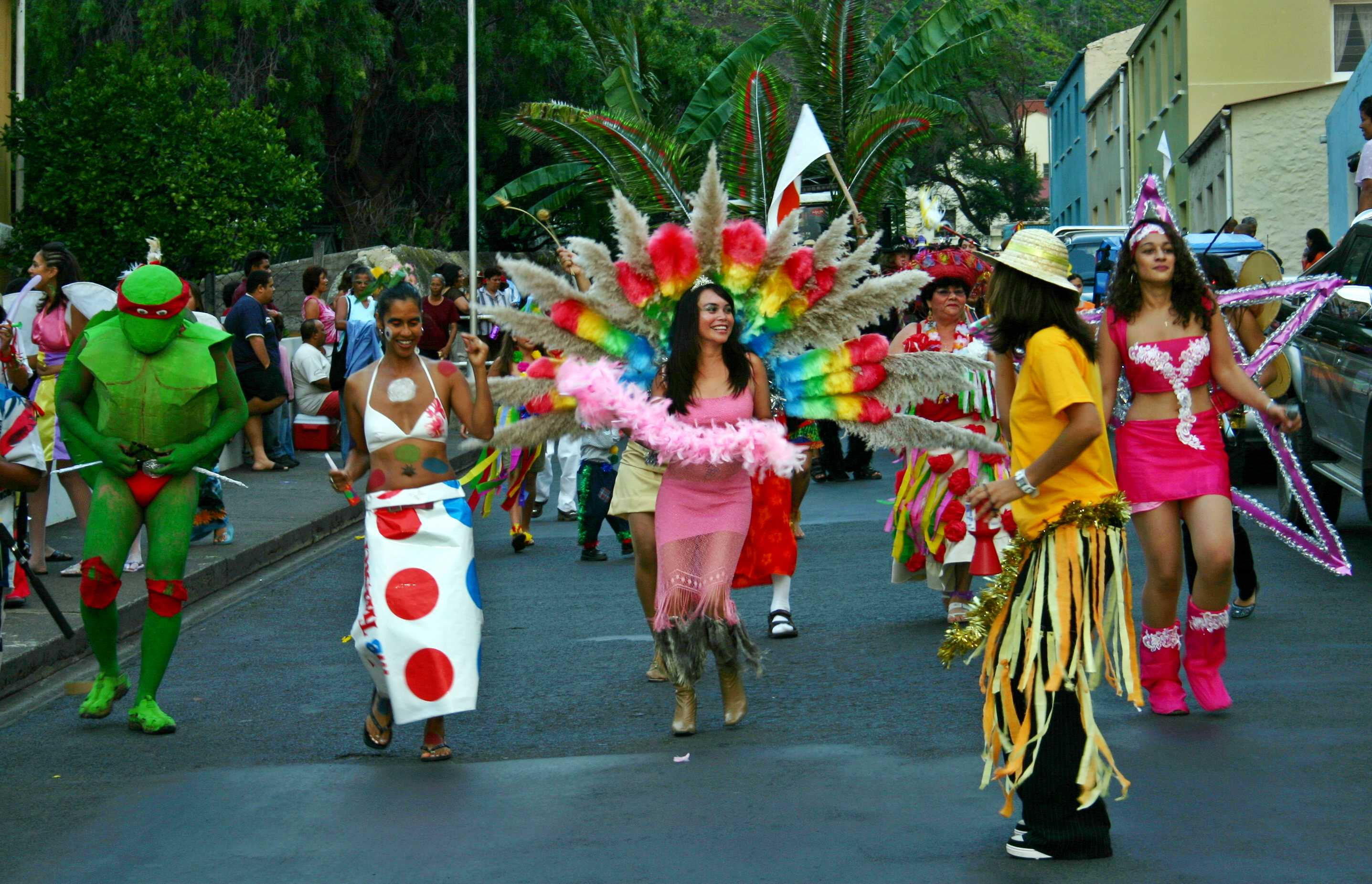 Photo Opportunity: The Carnival procession, in upper Jamestown