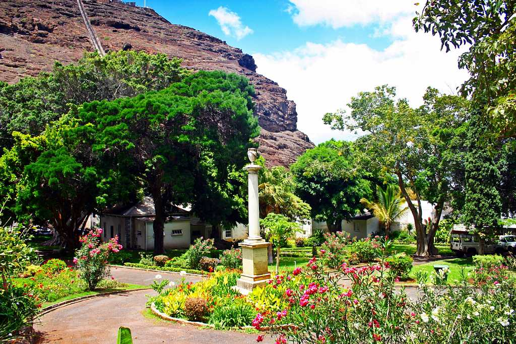 The Water Witch monument [Saint Helena Island Info:Castle Gardens]