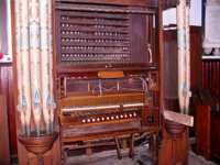 Organ stripped for restoration, July 2009