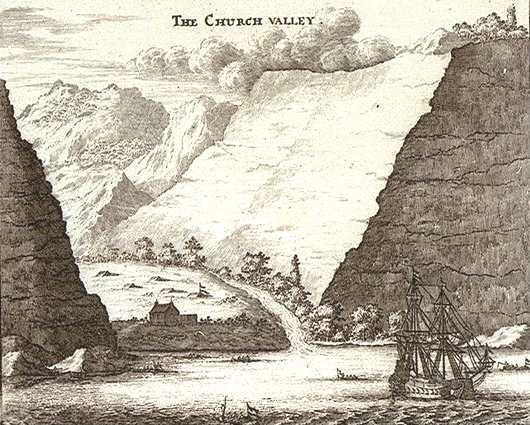 Church Valley in 1658 by Johan Nieuhof [Saint Helena Island Info:A Brief History]
