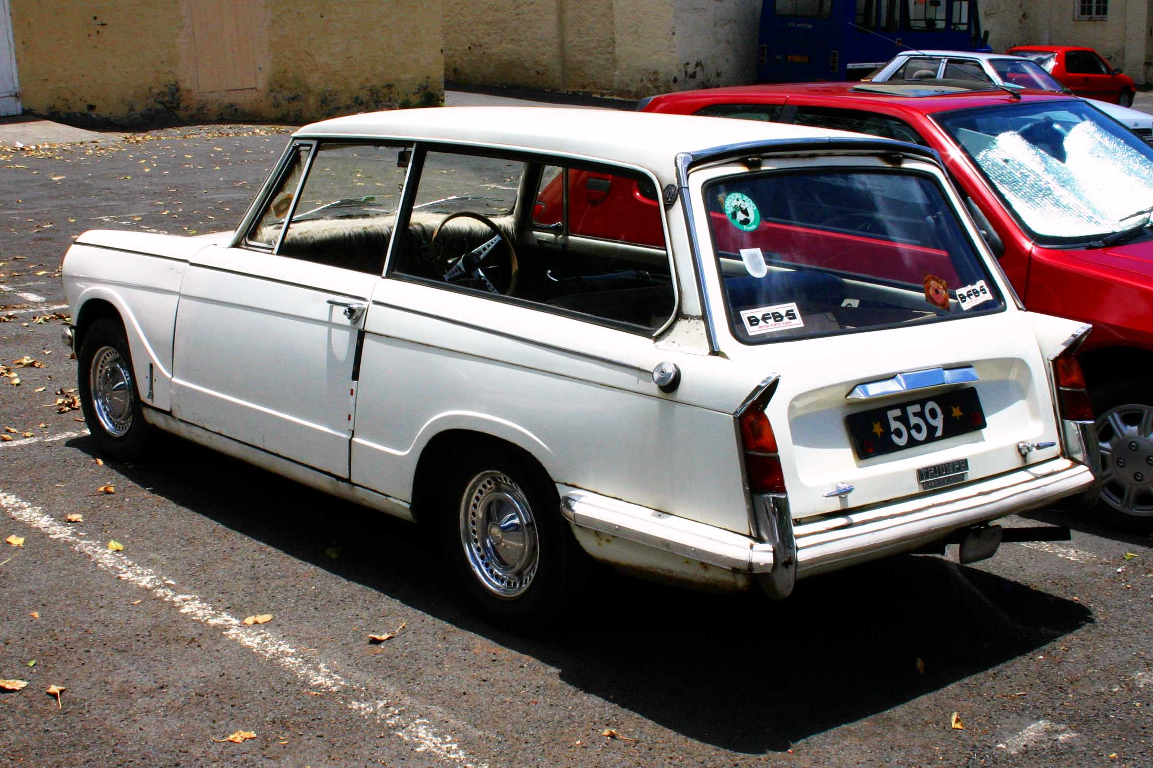Triumph Herald 1200 Estate, parked in the Grand Parade [Saint Helena Island Info:Classic Cars]
