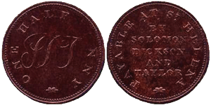 Solomon Dickson & Taylor Halfpennies Saint Helena Island Info Notes and Coins of St Helena
