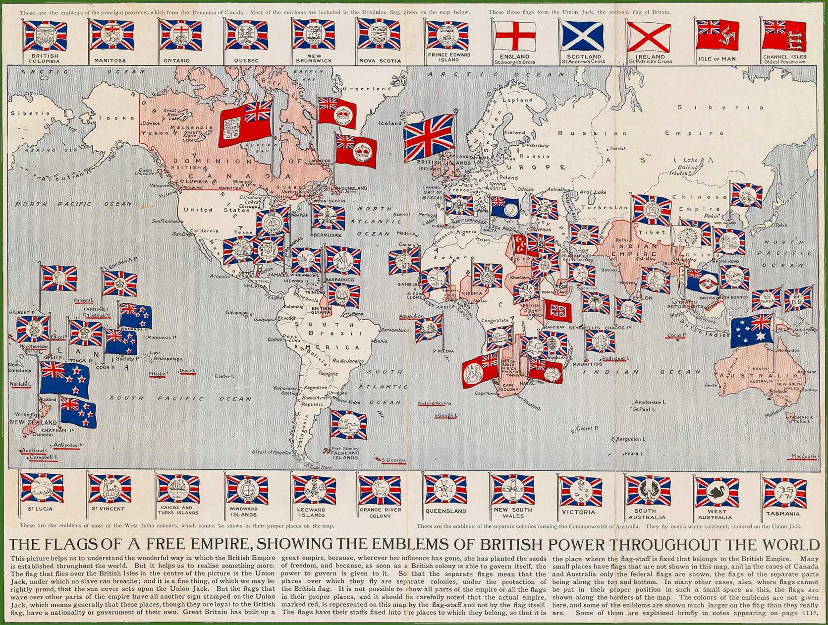 Flags of a Free Empire, 1910
