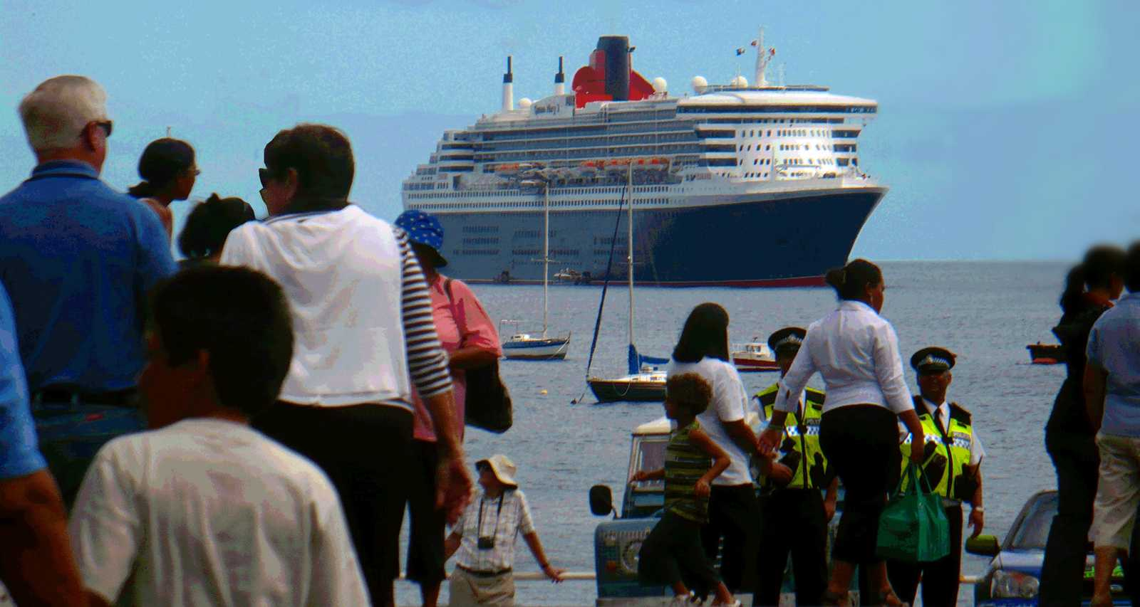 Queen Mary II visited in March 2010 Saint Helena Island Info Cruise Ship Days