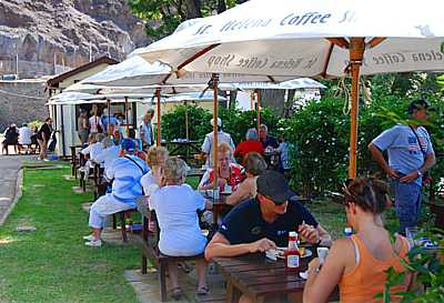 Coffee Shop at the Seaside Saint Helena Island Info Cruise Ship Days