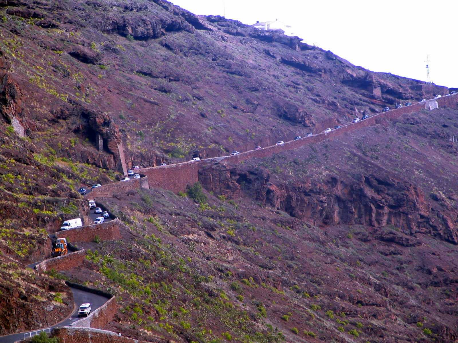 Rush Hour Ladder Hill Road Saint Helena Island Info Driving in St Helena