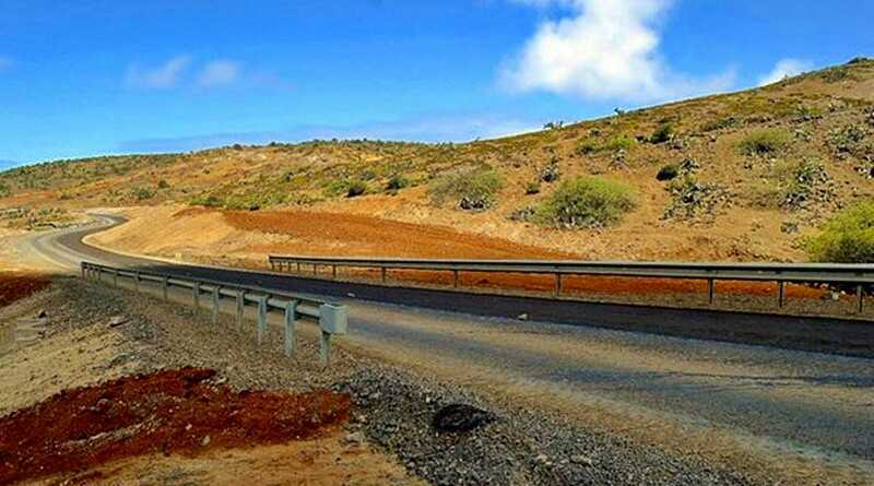 Wainwright Way at Cook's Bridge February 2016 Saint Helena Island Info Driving in St Helena