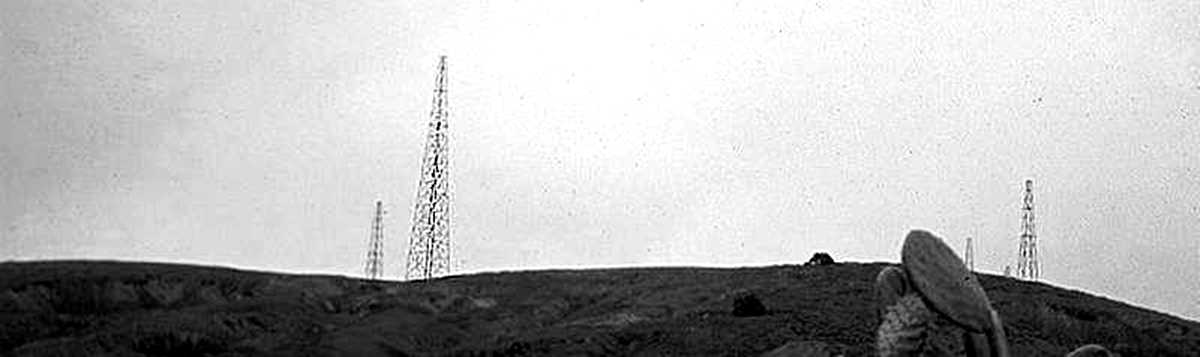 DWS antennae 1970 Prosperous Bay Plain Saint Helena Island Info Diplomatic Wireless Station