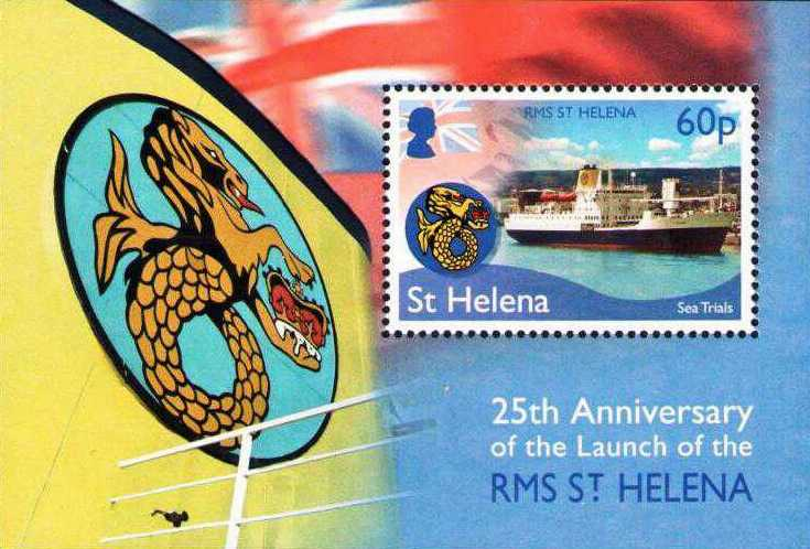 First Day Cover 25th Anniversary of the RMS Saint Helena Island Info Postage Stamps
