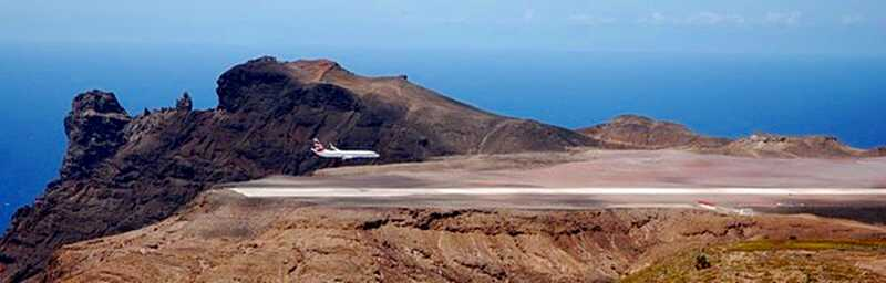 The First Full-size Plane [Saint Helena Island Info:Building St Helena Airport]