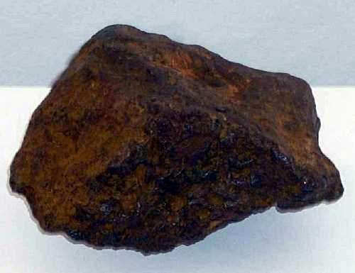 A rock from Horse Point believed to contain manganese oxide