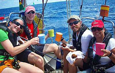 Christmas Day at sea for the crew of Patches [Saint Helena Island Info:The Governor's Cup]