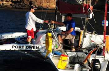 Arrival of 'Banjo' in 2012 [Saint Helena Island Info:The Governor's Cup]