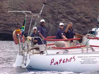 'Patches' in 2012, off St Helena [Saint Helena Island Info:The Governor's Cup]
