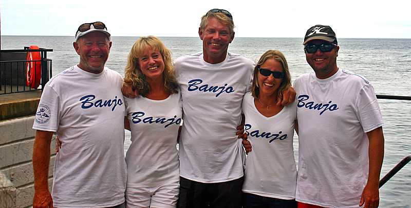 Jubiland 'Banjo' crew, 2014 [Saint Helena Island Info:The Governor's Cup]
