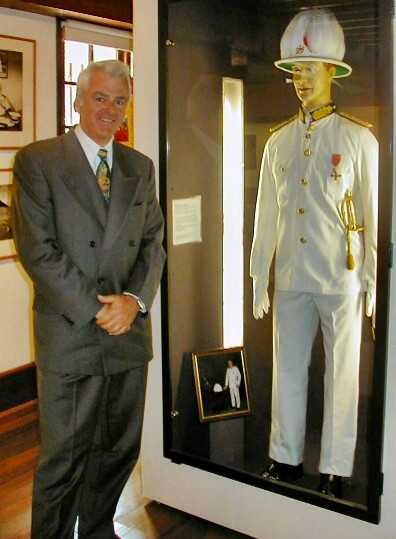 Governor Clancy visits the uniform