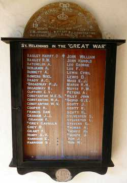 World War 1 ('The Great War') memorial [Saint Helena Island Info:A Brief History]