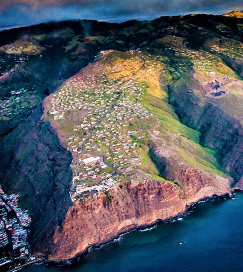 Half Tree Hollow from the air Saint Helena Island Info