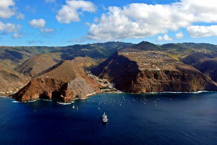 St Helena from the air