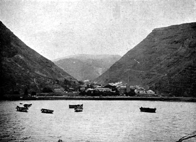 Jamestown from the bay prob. early 20th C Saint Helena Island Info Postcards of St Helena