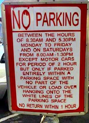 Parking sign in Jamestown Saint Helena Island Info Driving in St Helena