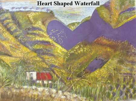 Iris Linsi Heart Shaped Waterfall Saint Helena Island Info Artists