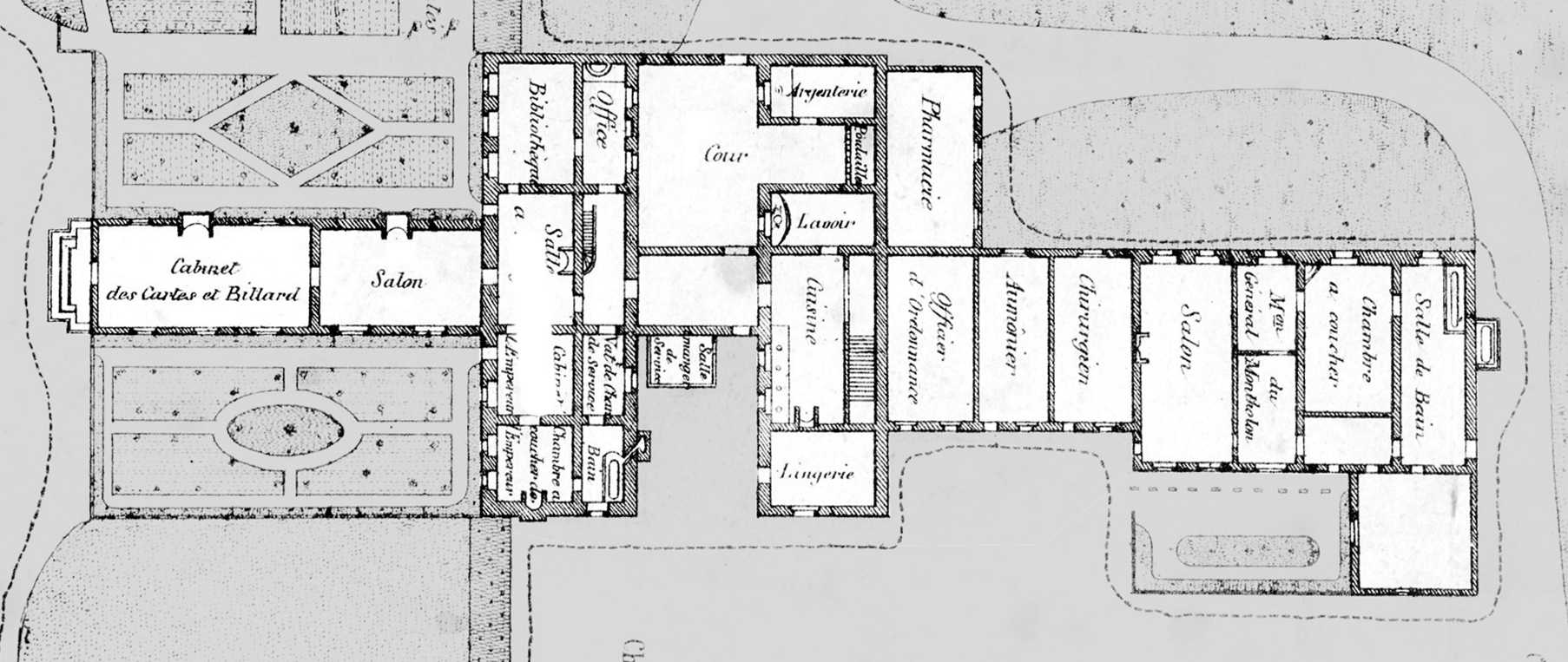 Internal plan of Longwood House