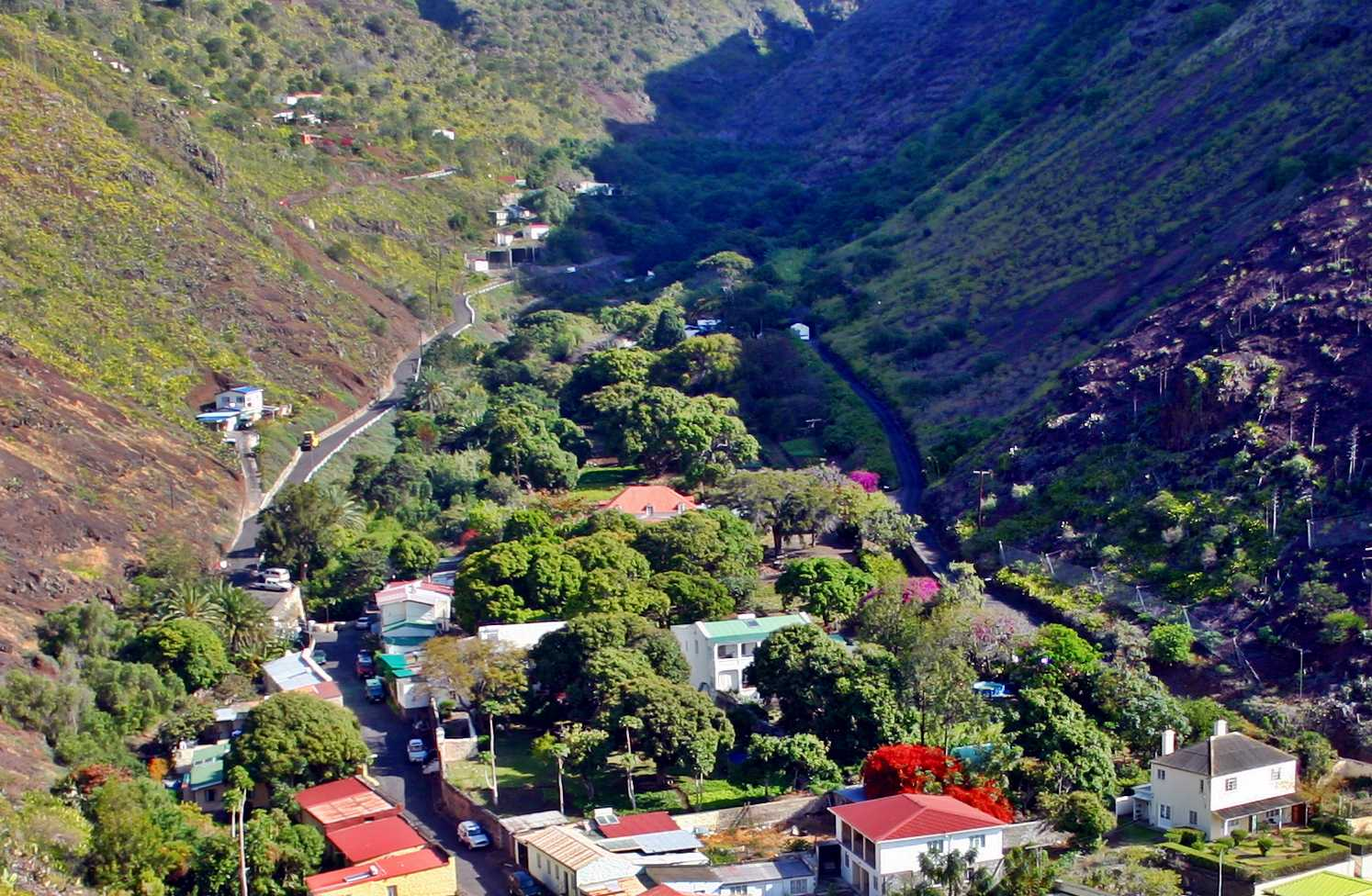 From Side Path Saint Helena Island Info Maldivia Gardens