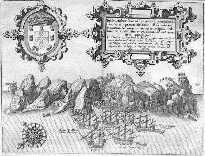 de Bry's map, from 1601