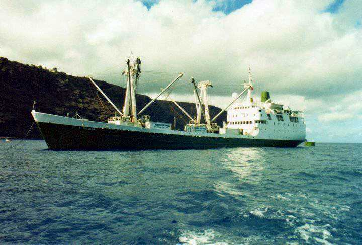 The first RMS St Helena, seen here in James Bay