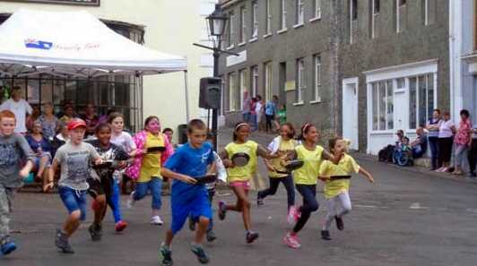 Pancake racing, 2015 [Saint Helena Island Info:Holidays and other festivals]