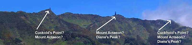Peak names controversy Saint Helena Island Info Place Names