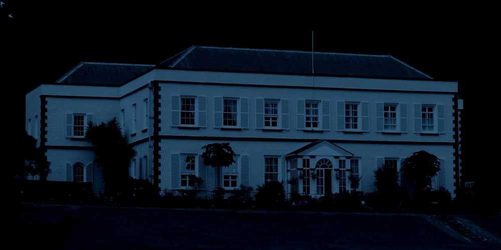 Plantation House by moonlight