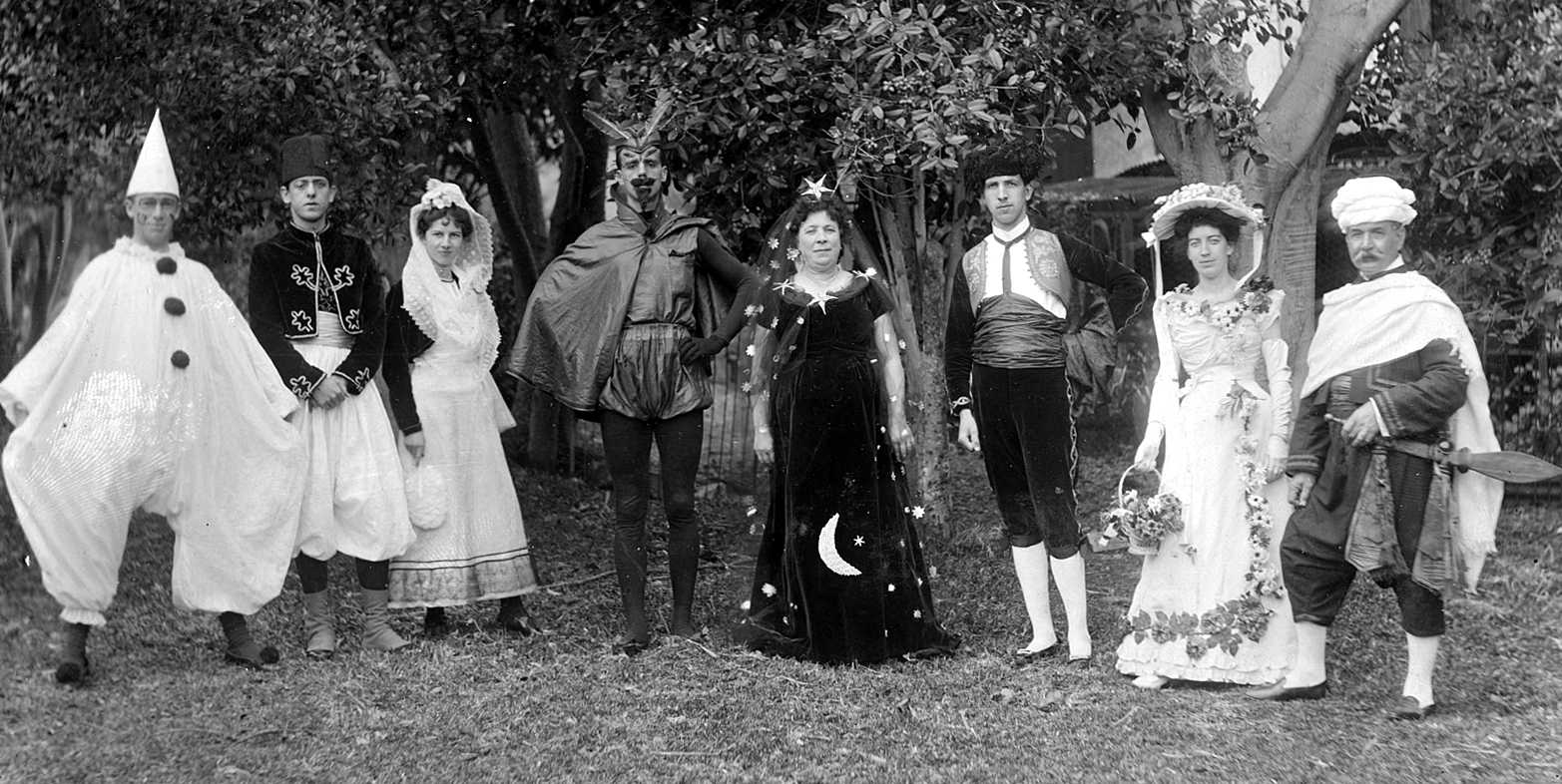 Dressed for a play, c.1900 - we have no idea what or precisely when