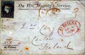 Early stamped letter, 1856