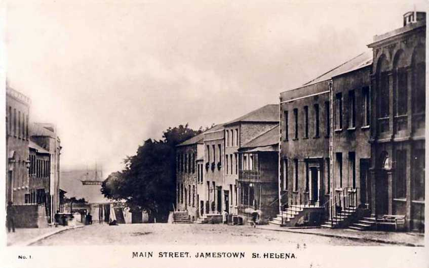 Main Street Jamestown prob. early 20th C Saint Helena Island Info Postcards of St Helena