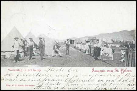 Postcard: Washday at the camp, Dutch, 1900-1902