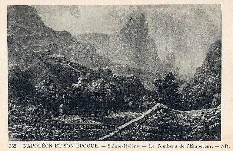 'Napoleon et son epoque' French early 20th C Saint Helena Island Info Postcards of St Helena