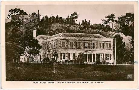 Postcard: Plantation House, probably 19th Century