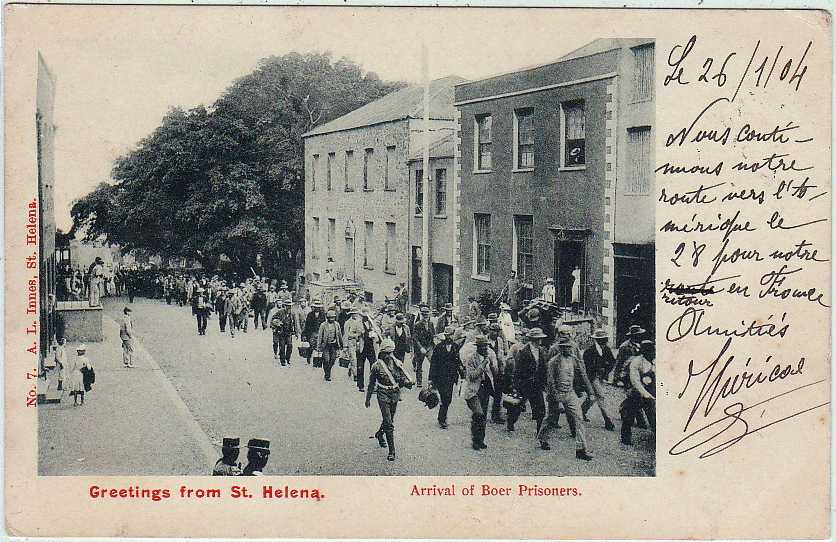 Arrival of the Boer Prisoners (1900-1902) presumably 1900 but dated 1904 Saint Helena Island Info Postcards of St Helena